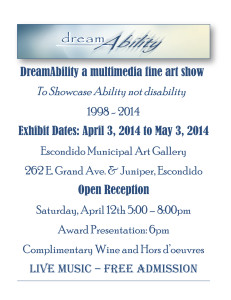 DreamAbility Fine Art Show @ Escondido Municipal Art Gallery | Escondido | California | United States
