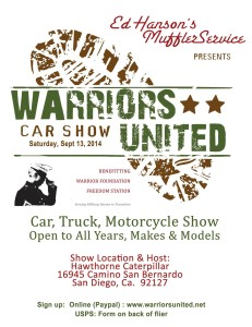 Warriors United Car Show @ Hawthorne Caterpillar | San Diego | California | United States