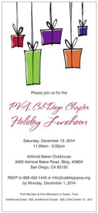 PVA, Cal-Diego Holiday Luncheon @ Admiral Baker Clubhouse | San Diego | California | United States
