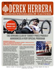 Captain Derek Herrera @ VASDHS - Multipurpose Room   San Diego   California   United States