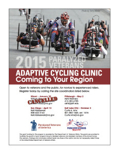 2015 Paralyzed Veterans Adaptive Cycling Clinic @ Challenged Athletes Foundation | San Diego | California | United States