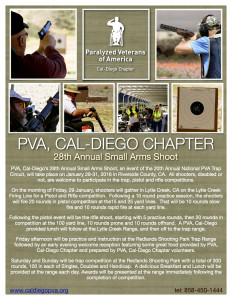 PVA, Cal-Diego Chapter 28th Annual Small Arms Shoot @ Lytle Creek Firing Line Redlands Shooting Park