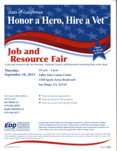 Honor a Hero, Hire a Vet Job & Resource Fair @ Valley View Casino Center | San Diego | California | United States